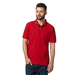 Maine New England - Bright red plain pique polo shirt