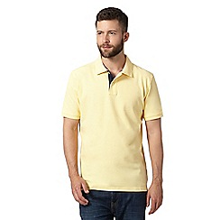Maine New England - Big and tall yellow plain pique polo shirt