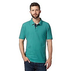 Maine New England - Green plain pique polo shirt