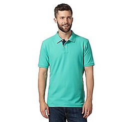 Maine New England - Light green plain pique polo shirt