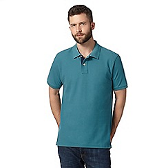 Maine New England - Dark green plain pique polo shirt