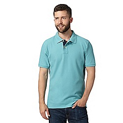 Maine New England - Big and tall aqua plain pique polo shirt