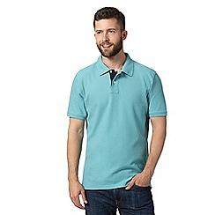 Maine New England - Aqua plain pique polo shirt