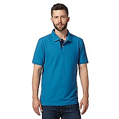 Maine New England - Dark turquoise plain pique polo shirt