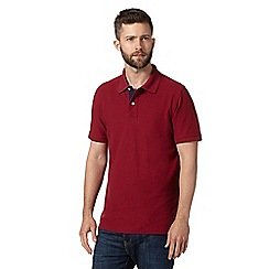 Maine New England - Dark red plain pique polo shirt