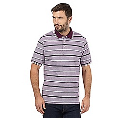 Maine New England - Big and tall purple striped polo shirt