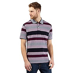 Maine New England - Plum striped polo shirt