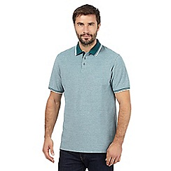 Maine New England - Big and tall green textured polo shirt