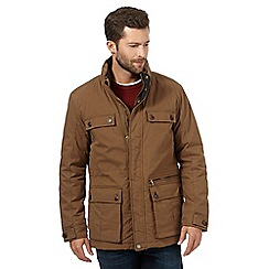 Maine New England - Big and tall light brown shower resistant jacket
