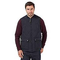 Maine New England - Big and tall navy quilted baseball gilet