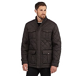 Maine New England - Big and tall brown diamond quilted jacket