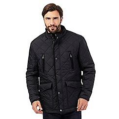 Maine New England - Big and tall black fleece lined quilted jacket