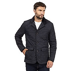 Maine New England - Big and tall navy diamond quilted jacket