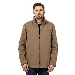 Maine New England - Big and tall taupe waterproof harrington jacket