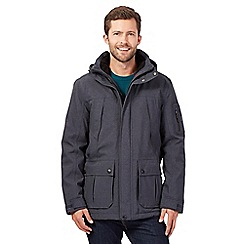 Maine New England - Big and tall navy breathable waterproof jacket