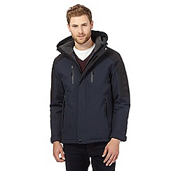 Maine New England - Big and tall navy waterproof hooded coat