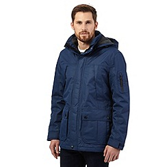 Maine New England - Big and tall blue waterproof hooded coat