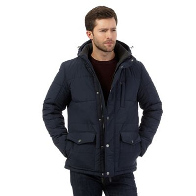 Maine New England Big and tall navy quilted coat - . -
