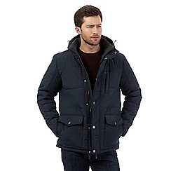 Maine New England - Big and tall navy quilted coat