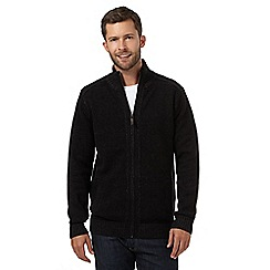 Maine New England - Big and tall England Black knitted zip thru