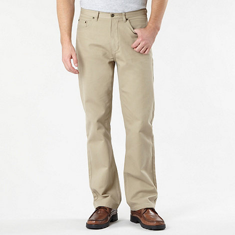 Maine New England - Big and tall beige textured five pocket trousers