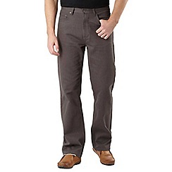 Maine New England - Big and tall brown broken bedford trousers