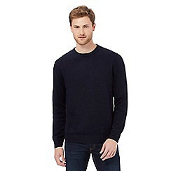 Maine New England - Big and tall navy plain crew neck jumper