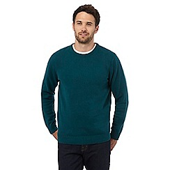 Maine New England - Big and tall dark turquoise crew neck jumper