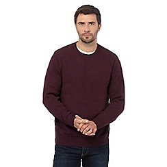 Maine New England - Big and tall maroon twisted yarn jumper