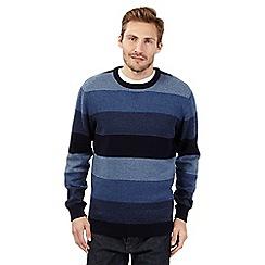 Maine New England - Blue block striped jumper