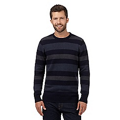 Maine New England - Navy chevron striped jumper