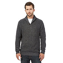 Maine New England - Big and tall grey shawl neck jumper