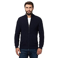 Maine New England - Big and tall navy funnel neck jumper