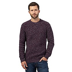 Maine New England - Purple chunky twist knit jumper