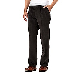 Maine New England - Big and tall dark grey cord trousers