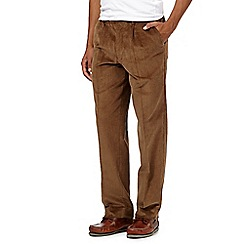 Maine New England - Big and tall dark brown cord trousers