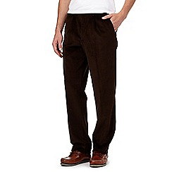 Maine New England - Big and tall brown cord trousers