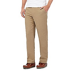 Maine New England - Big and tall beige moleskin trousers
