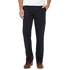 Maine New England - Big and tall navy tailored chinos