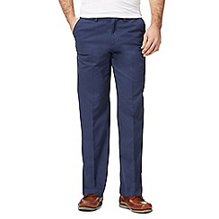 Maine New England - Big and tall dark blue tailored chinos