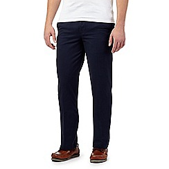 Maine New England - Big and tall dark blue tailored fit chinos