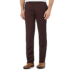 Maine New England - Big and tall plum tailored chinos