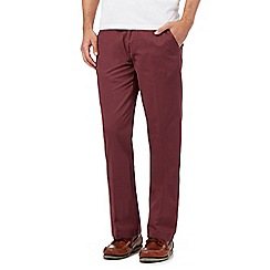 Maine New England - Dark Rose tailored fit chinos