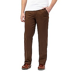 Maine New England - Big and tall bronze tailored chinos