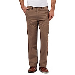 Maine New England - Big and tall brown tailored chinos