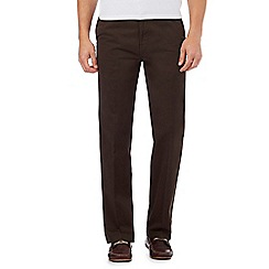 Maine New England - Big and tall chocolate tailored fit chinos
