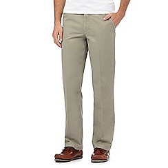 Maine New England - Big and tall light olive tailored chinos