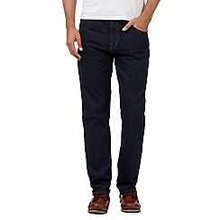 Maine New England - Big and tall dark blue raw wash jeans