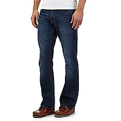 Maine New England - Big and tall blue zip fly mid wash bootcut jeans