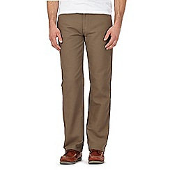 Maine New England - Big and tall light brown moleskin trousers